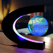 Creative Magnetic Levitation Globe C-shaped Teaching Toys for Children