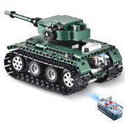 CaDA C51018 DIY Puzzle Strong Power Remote Control Crawler Tank Toy for Children