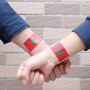 Moroccan Flag Football  Body Tattoo Stickers