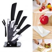xyj 6 in 1 Sharp Kitchen Ceramic Knives Kit with Peeler Holder