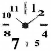 DIY Wall Mounted Clock Modern Unique Numbers Design Decorative