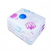 Household Vacuum Compression Storage Bag with Flower Pattern