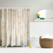 Wood Door Polyester Shower Curtain Bathroom Curtain High Definition 3D Printing Water-Proof