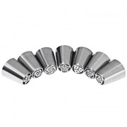 7pcs Stainless Steel Russian Icing Piping Nozzles Pastry Decorating Tips Kitchen Accessories