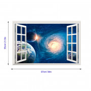 Home Decoration Uniquen 3D Universe Nebula Wall Stickers