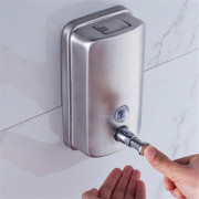 500ml Mounted Stainless Steel Manual Wall Mount Soap Dispenser for Bathroom Kitchen Hotel