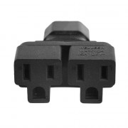 AC Power 1 to2 IEC320 C14 to 2 Way US Industrial Socket