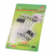 DIHE Multipurpose Simple S - Shaped Pothook Stainless Steel 4 Pack