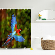 Macaw Polyester Shower Curtain Bathroom  High Definition 3D Printing Water-Proof
