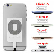 Qi Wireless Charger Adapter Fast Charging Receiver For iPhone Samsung Android